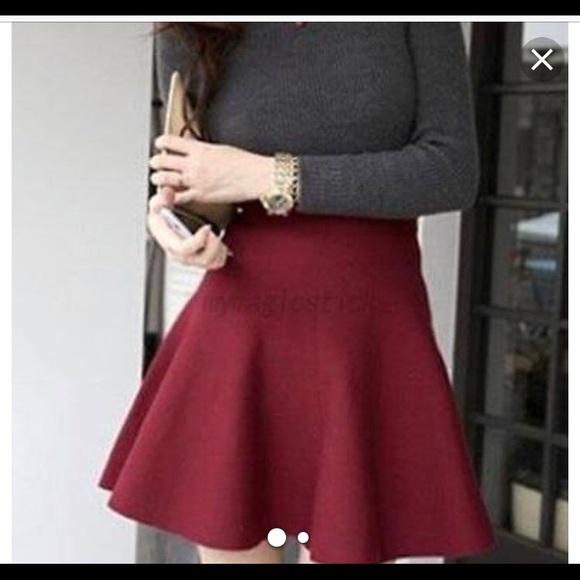 e738344e2 Zara Skirts | Red Knit Mini Skirt | Poshmark